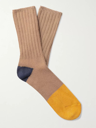 Thunders Love Marine Colour-Block Recycled Cotton-Blend Socks