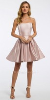 Camille La Vie Strapless Satin Fit and Flare Cocktail Dress