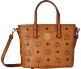 MCM Anya Shopper Top Zip Mini Shopper Tote Handbags