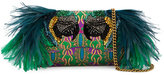 Gucci Small Broadway Evening Bag with Feather Embellishment - women - Leather/Polyurethane/Feather/glass - One Size