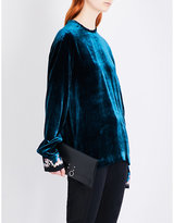 Haider Ackermann Cuff-embroidered velvet top