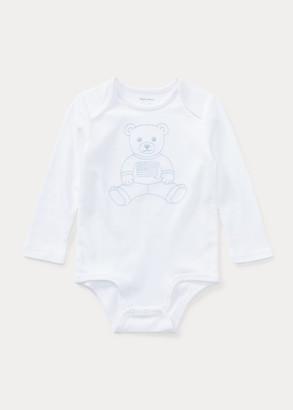 Ralph Lauren Embroidered Polo Bear Bodysuit