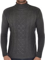 Soul Star Men's Roll Polo Neck Knitted Jumper Top M