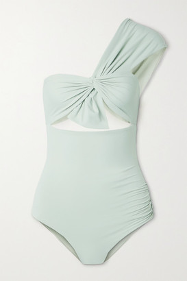 Marysia Swim Venice One-shoulder Cutout Swimsuit - Gray green