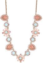 Marchesa Crystal, & Stone Station Necklace