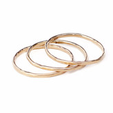 Vanessa Lianne - 14Kt Gold Hammered Stacking Ring