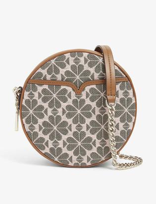 Kate Spade Spade Flower embroidered jacquard round bag