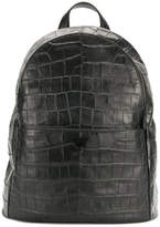 Emporio Armani croc effect backpack