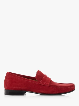 Dune Strikes Suede Penny Mocassin Loafers