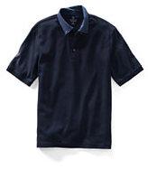 Classic Men's Tall Short Sleeve Supima Buttondown Collar Polo-Shiitake Mushroom