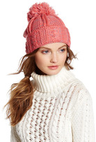 Cara Accessories Pom Pom Knit Sweater Beanie