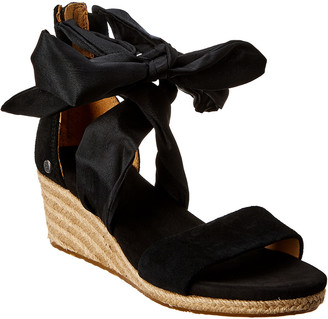 UGG Women's Trina Suede Wedge Sandal