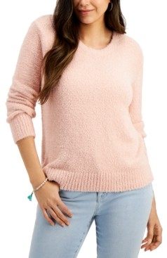 Style&Co. Style & Co Petite Plush Crewneck Sweater, Created for Macy's