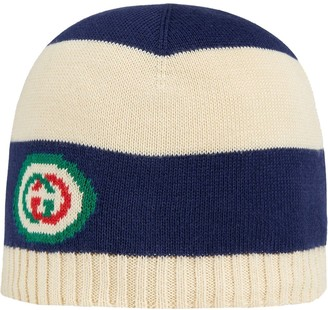 Gucci Kids Striped Knitted Hat