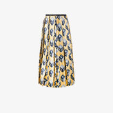 Gucci Wallpaper pleated skirt