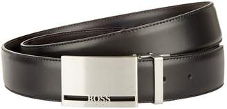 BOSS Two Buckle Leather Belt Set