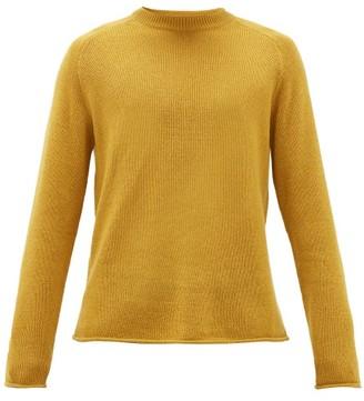 The Row Ulmer Raw-hem Cashmere Sweater - Yellow