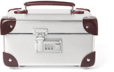 Globe-trotter EKOCYCLETM Leather-Trimmed Aluminium Watch Case