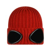 C.P. Company C.P. CompanyBoys Magma Orange Knitted Goggle Hat