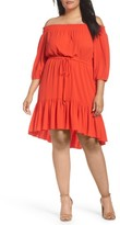 Vince Camuto Plus Size Women's Off The Shoulder Crepe Dress