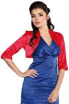Ossa Fashion Wedding Satin Stole Jacket Bolero Shrug 3/4 Sleeve UK Size 6-38