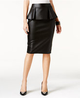 Thalia Sodi Faux-Leather Peplum Pencil Skirt, Only at Macy's