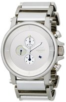 Vestal Unisex PLE023 Plexi Leather Silver Watch