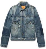 Frame + Ben Gorham Distressed Denim Jacket - Blue