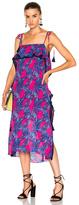 Tanya Taylor Palms Josefina Dress in Abstract,Blue,Pink.