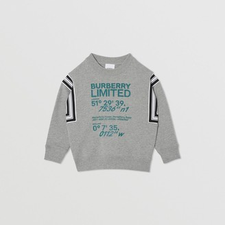 Burberry Childrens Coordinates Print Cotton Sweatshirt