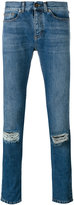 Saint Laurent denim distressed jeans