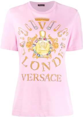 Versace blonde print T-shirt