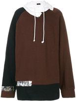 Raf Simons oversized tape detail hoodie