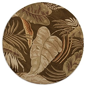 Kas Havana Rainforest Round Area Rug, 7'6 x 7'6