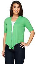 Denim & Co. Short Sleeve Open Front Sweater Knit Shrug