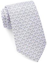 Tailorbyrd Silk White Dog Tie