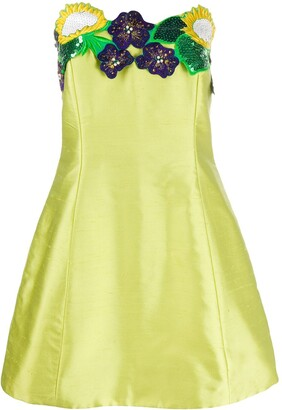 A.N.G.E.L.O. Vintage Cult 1980s Embroidered Sunflower Dress