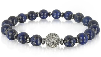 Lapis Lazuli Small Stone Men's Bracelet w/Brass Golf Ball