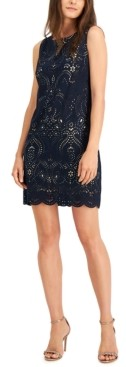 Jessica Howard Petite Laser Cut Shift Dress