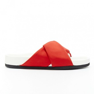 Celine Twist Orange Cloth Sandals