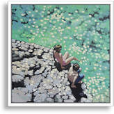 """One Kings Lane Toe in the Water - Gordon Hunt - 24""""L x 24""""W x 1.5""""D Art"""