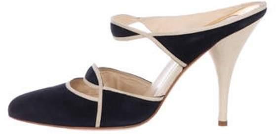 30e8a1a2a4f Suede High-Heel Mules Black Suede High-Heel Mules