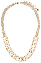Rivka Friedman Bold Curb Link CZ End Cap Station Necklace
