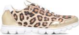 Roberto Cavalli Leopard-print metallic trainers 5 - 9 years