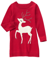 Gymboree Red Deer Sweater Dress - Girls