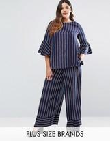 Lovedrobe Co-Ord Striped Wide Leg Pants