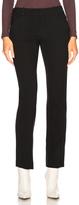 Chloé Diagonal Wool Trousers in Black.