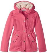 Urban Republic Kids - Long Silhouette Fleece Anorak with Pile in Hood Girl's Coat