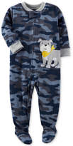 Carter's 1-Pc. Camo-Print Dog Footed Pajamas, Toddler Boys (2T-5T)