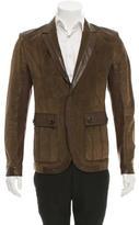 Gucci Notch-Lapel Leather Blazer